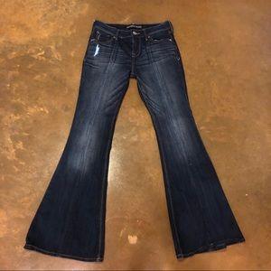 Express Bell Flare denim jeans - size 2 SHORT
